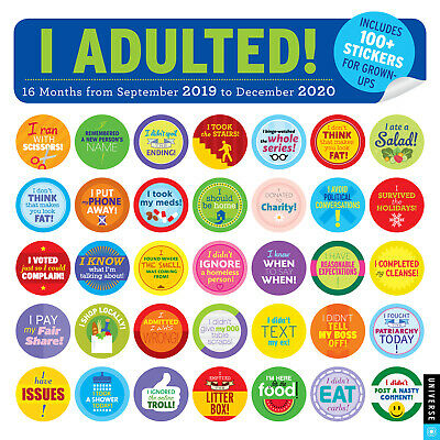 I Adulted! 2019-2020 16-Month Square Wall Calendar