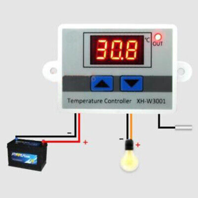 12V / 220V LCD Display Electronic Temperature Controller Switch Digital & Probe