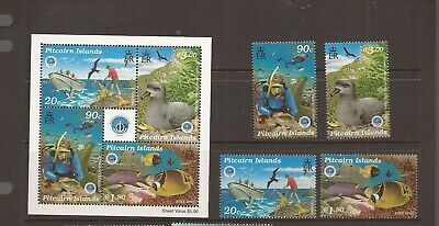 Pitcairn Islands 1998 Year Of The Ocean M/Sheet + Mnh Set Of Stamps