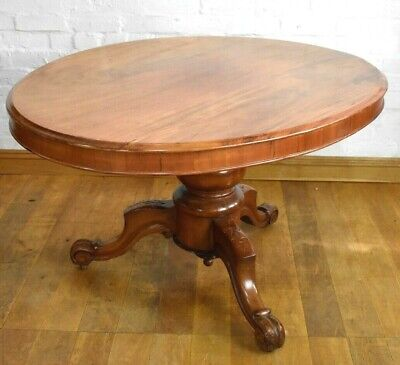 Antique Victorian 6 seater oval tip up top breakfasting dining table
