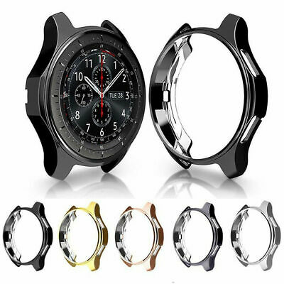 AU For Samsung Galaxy Watch 42/46mm S3 TPU Bumper Case Cover Screen Protector