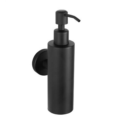 Liquid Hand Soap Dispenser Stainless Steel Wall Mounted Black Simple Bathro C7U8