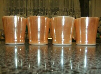 Vintage 'Fire King' Peach Luster Ware Cups