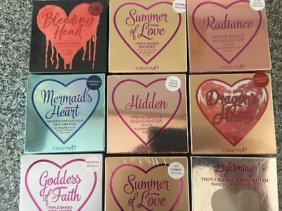 Revolution I Heart Makeup Blushing Bronzing Illuminating Heart 10g Boxed Sealed