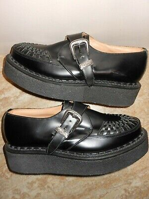 Robert Cox  Monk Style Black Leather Hand Made Creepers - Uk  7 - Bnwob Rrp £250