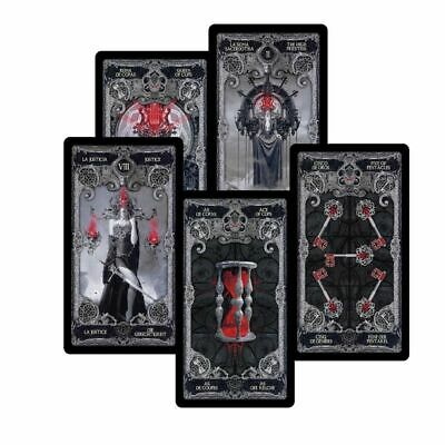 78 Dark Tarot Cards Deck Divination Personal Board Game English +3lng