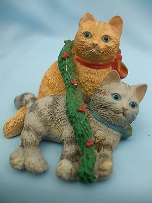Collectable Russ Berrie Cozy Christmas Kittens Cat Ornament