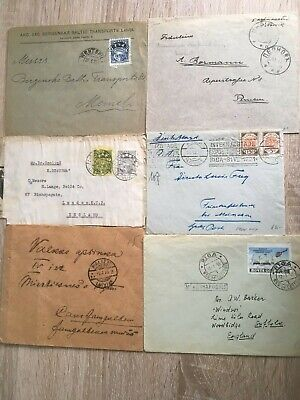 Postal History Latvia - 6 items - 4 covers + 2 Fronts, 1 Cover from Riga, USSR