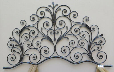 Bed Header for Double Bed Wrought Iron a Tail Peacock Vintage Headboard 5