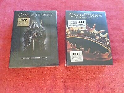 Game Of Thrones - Complete 1St & 2Nd Seasons - (2 Dvd Sets) 5 Disc Sets - New