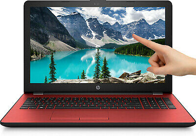 """NEW HP 15.6"""" Touch Screen RED Intel Pentium Gold 2.3GHz DVD+RW 500GB Webcam+Mic"""