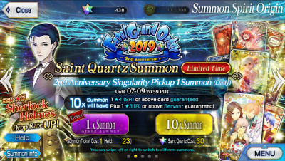 [NA/Global] [INSTANT] Fate Grand Order FGO Quartz Account 430-500 SQ