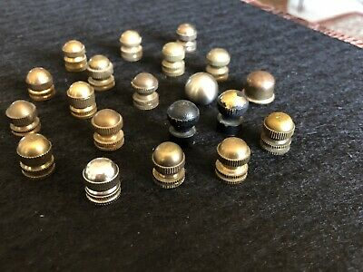 Lot of 20 Vintage Lamp Finial Knobs Caps Lot 30. (Trusted Us Seller)