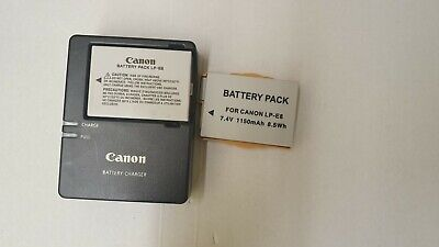 Genuine Canon LC-E8C Charger And Canon LP-E8 Battery pack Plus Spare Battery