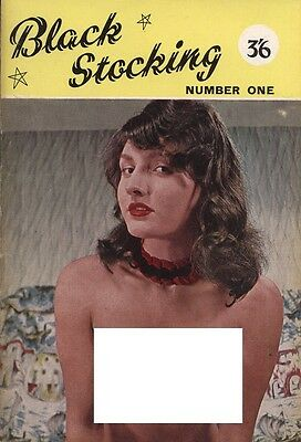 Rare vintage UK pocket size magazine from 50s or 60s: Black Stocking First Issue