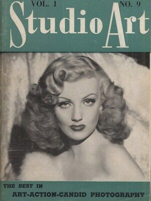 Rare vintage US pocket size magazine from the 50s or 60s: Studio Art Vol 1 No 9