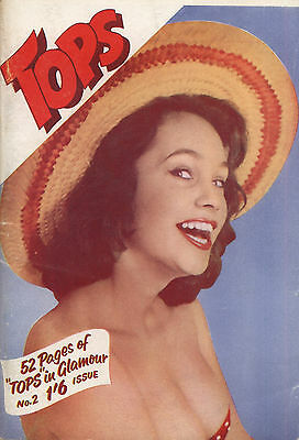 Rare vintage UK pocket size magazine from the 50s or 60s: Tops No. 2