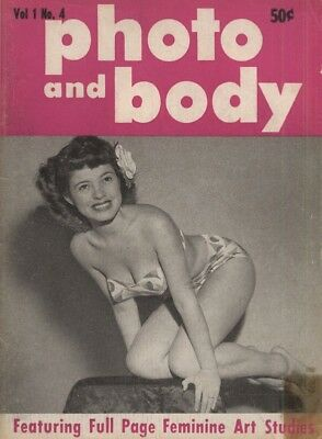 Rare vintage US pocket size magazine from the 50s or 60s: Photo and Body V1 No 4