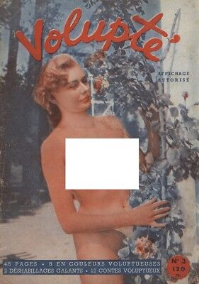 Rare vintage French pocket size magazine from the 50s or 60s: Volupté No 3