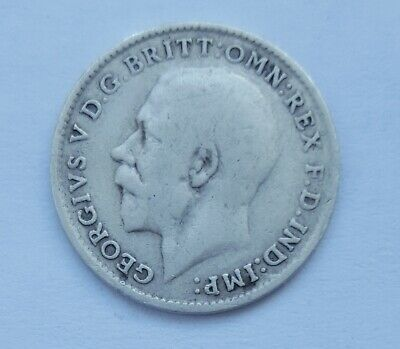 1919 GREAT BRITAIN 3 PENCE SILVER 925 GEORGE V  - High Grade