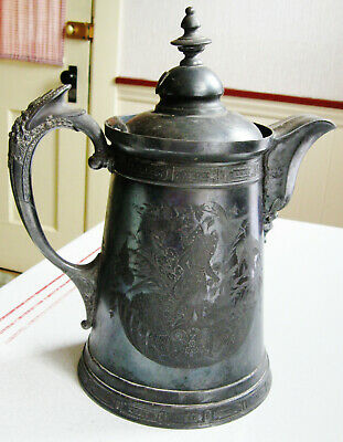 Wilcox Silverplate Meriden Aesthetic Fairies In Fairy Garden Coffeepot As Found