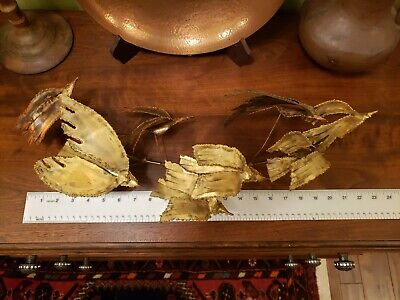Curtis Jere Bronze Birds In Flight Wall Sculpture Mid Century  Signed & Dated 67