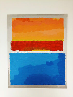 Copie d'un tableau de Mark ROTHKO - Yellow, red and blue