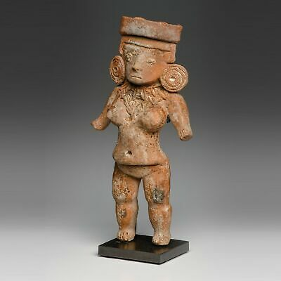 Mexico Pre-Columbian Michoacan Pretty Lady with Concentric Ear Spools