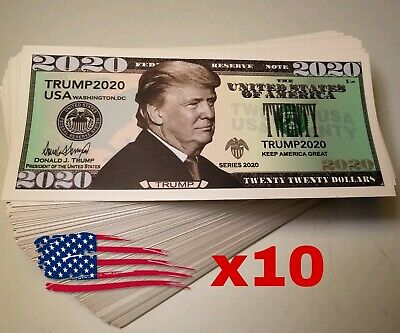 Lot of 10 TRUMP 2020 Dollar Bill Bumper Sticker Decal MAGA KAG - USA STOCK! x10