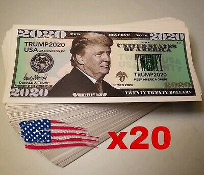 Lot of 20 TRUMP 2020 Dollar Bill Bumper Sticker Decal MAGA KAG - USA STOCK! x20