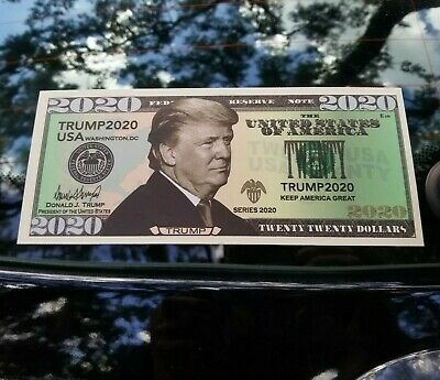 TRUMP 2020 Bumper Sticker 20 Dollar Bill Vinyl Window Decal MAGA - HIGH QUALITY!