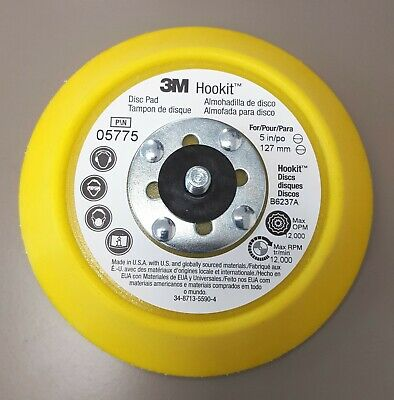 "3M Hookit™ 05775 Disc Backing Pad 5"" x 3/4"" Medium - NEW"