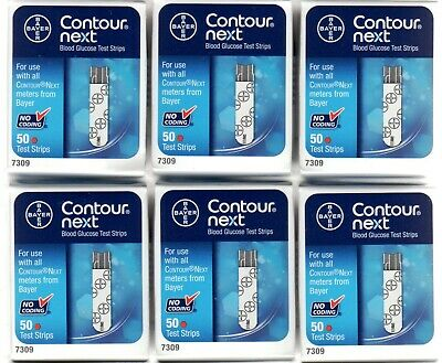 Six Unopened Boxes of 50 Bayer Contour NEXT Test Strips Exp: 2020-10-31