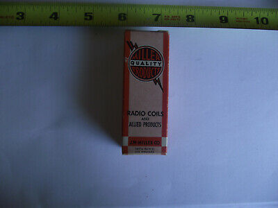 RADIO COIL Vintage J.W. Miller Quality Products Allied Products 9051,3.0-7.0 uh