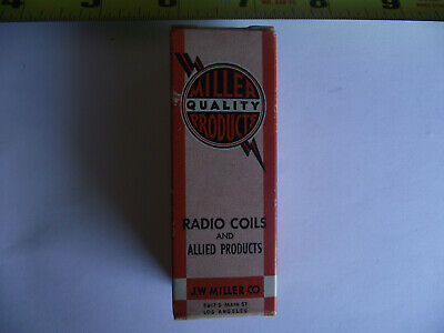 RADIO COIL Vintage J.W. Miller Quality Products Allied Products NIB 6306 6304