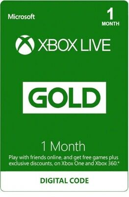 Microsoft Xbox Live Gold 1 MONTH + GAME PASS