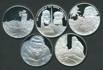 Germany, Greenland, Seychelles, South Africa, Yugoslavia Cameo PF Silver Medals