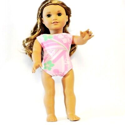 Pink Flower Swimsuit 18 in Doll Clothes Fits  American Girl Dolls