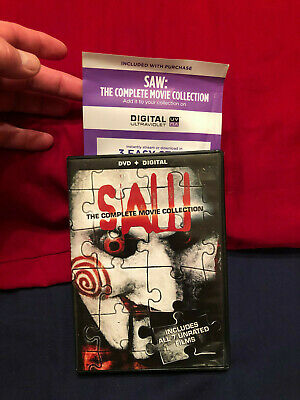 Saw: The Complete Movie Collection DVD, Digital Codes Included Saw 1,2,3,4,5,6,7