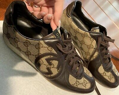 84248bc4 GUCCI BROWN LEATHER Sneakers UK 9 / EU 43.5 / US 10 $900 - $195.00 ...