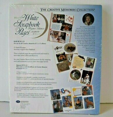 Creative Memories White Scrapbook Pages 8.5 x 11 Retired 2000 RCM-11S 15 sheets