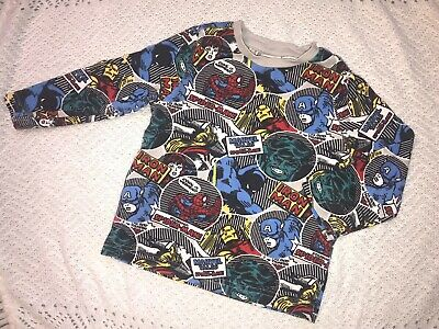 Baby Boy Long Sleeve Top 12-18 Months ❤️ Marvel Superhero ❤️