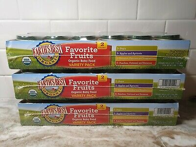 Earth's Best Baby Food Puree Fruit Variety Packs 36 Jars! 6 Months + Stage 2