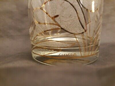 4 Mid Century 22K GOLD ENLAY & ETCHED CALLA LILLY Signed Culver Highball Glasses