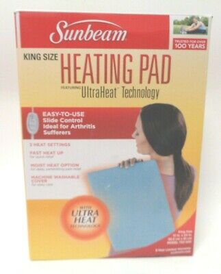 Sunbeam 732-500 NEW OPEN King Size Heating Pad with UltraHeatTechnology