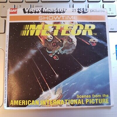 Vintage gaf K46 METEOR Sci-Fi Movie Film view-master Reels Showtime Packet set