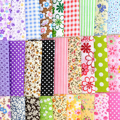 30pcs Fabric Bundle Cotton Patchwork Sewing Quilting Tissues Cloth Craft DIY