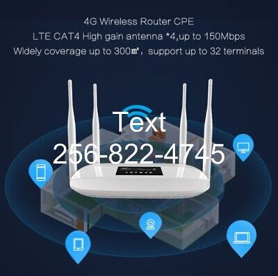 AT&T Truly Unlimited Rural Internet Data 4G Router $34.99/Month 4G LTE Wireless