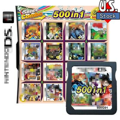 500 Games IN 1 Game Cartridge Multicart For DS NDS NDSL NDSi 3DS 2DS XL
