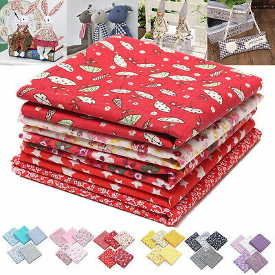 5pcs Mixed Pattern Cotton Fabric Sewing Quilting Patchwork Crafts Handmade DIY